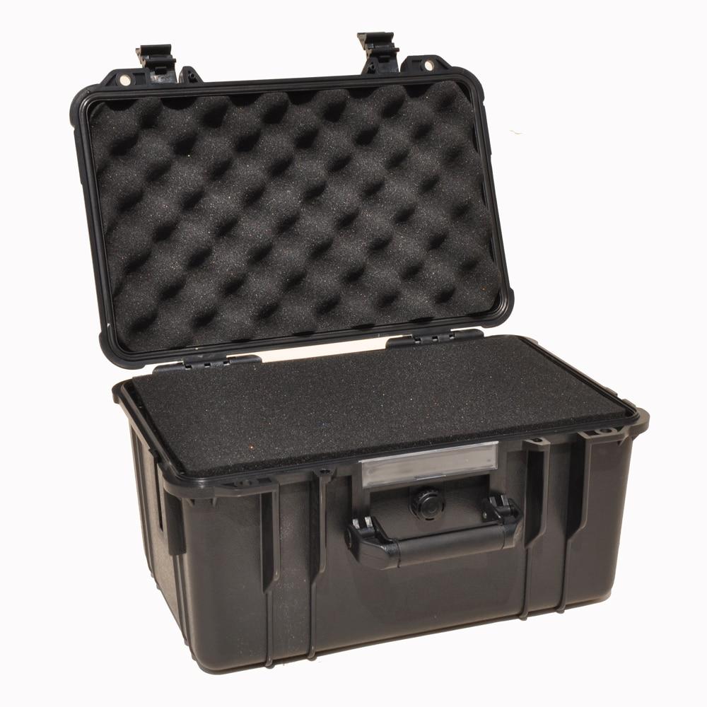 Gereedschapskoffer gereedschapskoffer koffer Slagvaste waterdichte ABS camerakoffer veiligheidsuitrusting Reserveonderdelenset met voorgesneden schuim