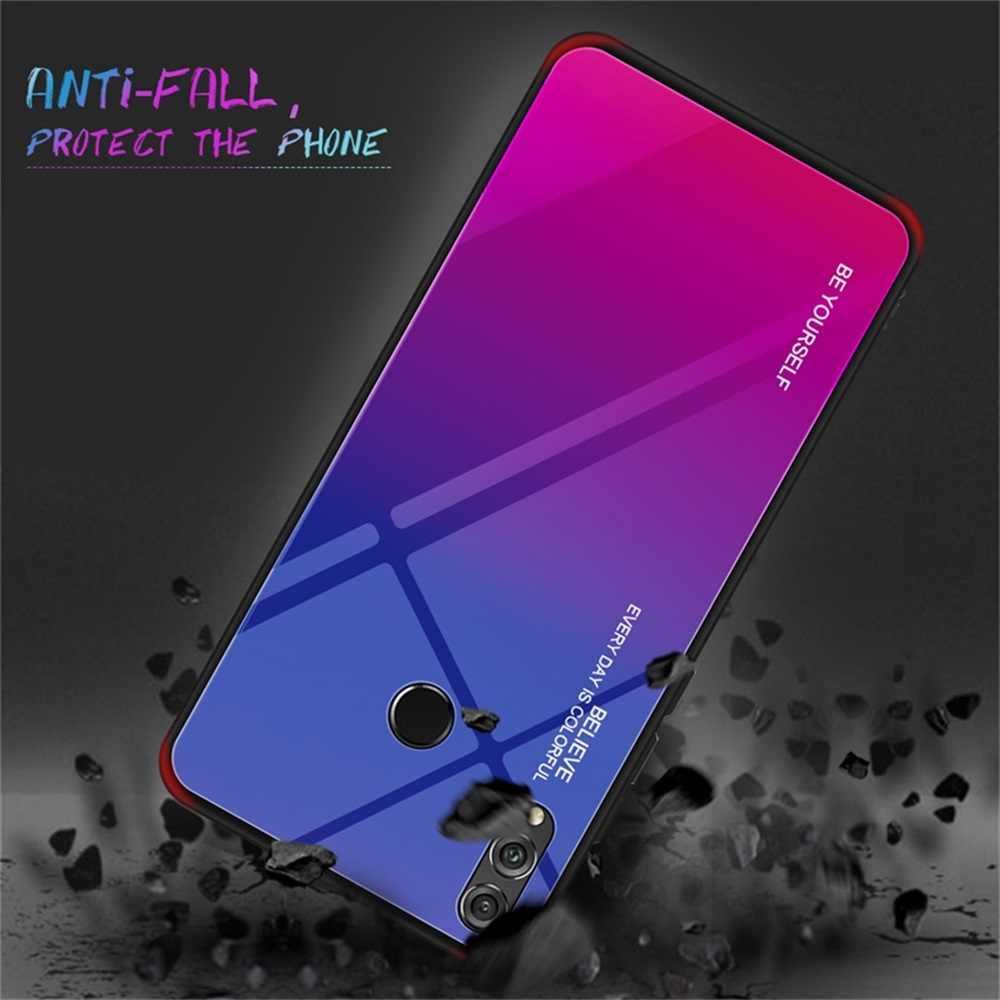 حافظة لهاتف Huawei P20 لايت P30 زميله 30 20 10 برو التدرج الهاتف غطاء لهواوي نوفا 3i 3 3e 4 4e الزجاج المقسى حالة قذيفة