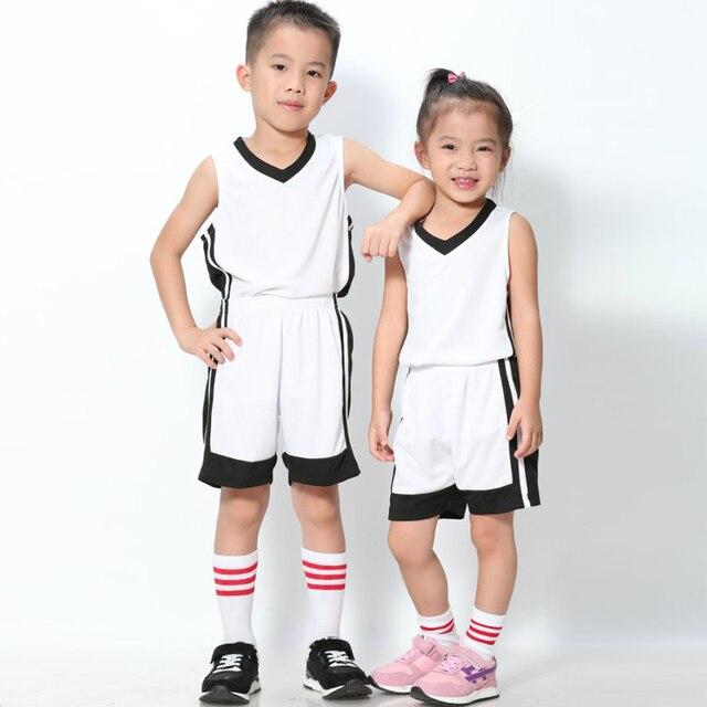 Camiseta de baloncesto para niños conjuntos uniformes Kits Niños Niñas Ropa  Deportiva transpirable entrenamiento juvenil camisetas 33a34eaa83675