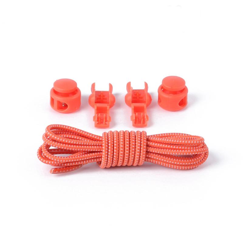 1 Pair No Tie Locking Shoelaces Elastic Unsiex Women Men Trainer Running Athletic Sneaks Shoe Laces Fit Strap Shoelace Wholesale (14)