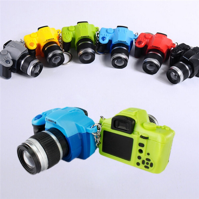 Mini Digital Single Lens Reflex DSLR Camera Style LED Flash Light Keychain For Bag Phone Car Key Ring Men Women Jewelry