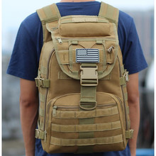 Large Capacity Man Army Tactical Backpack Camo Military Hiking Camping Backpack Travel Rucksack Outdoor Sports Climbing Bag недорого