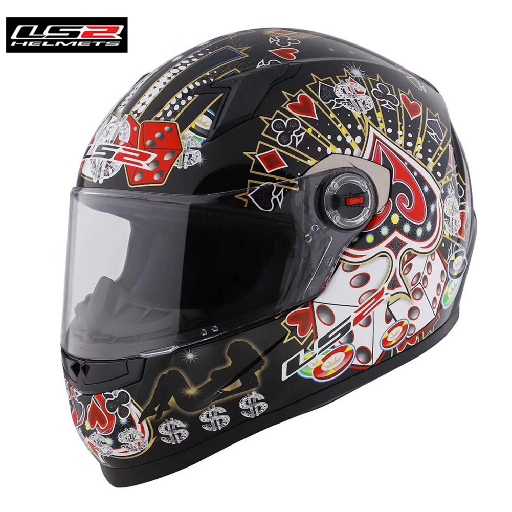 цена на LS2 Capacetes de Motociclista FF358 Motorcycle Helmet Full Face Motorbike Men Racing Casque Moto Casco