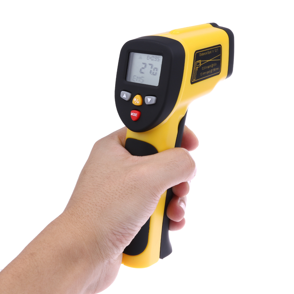 Digital LCD Infrared Thermometer Non-contact IR Temperature Tester Laser Gun Dual Pyrometer Temperature Meter -50 to 1050 degree цена 2016