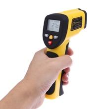 Цифровой ЖК Инфракрасный Термометр бесконтактный ИК Температуры Тестер Лазерный Пистолет Двойной Пирометр Измеритель Температуры от-50 до 1050 степень