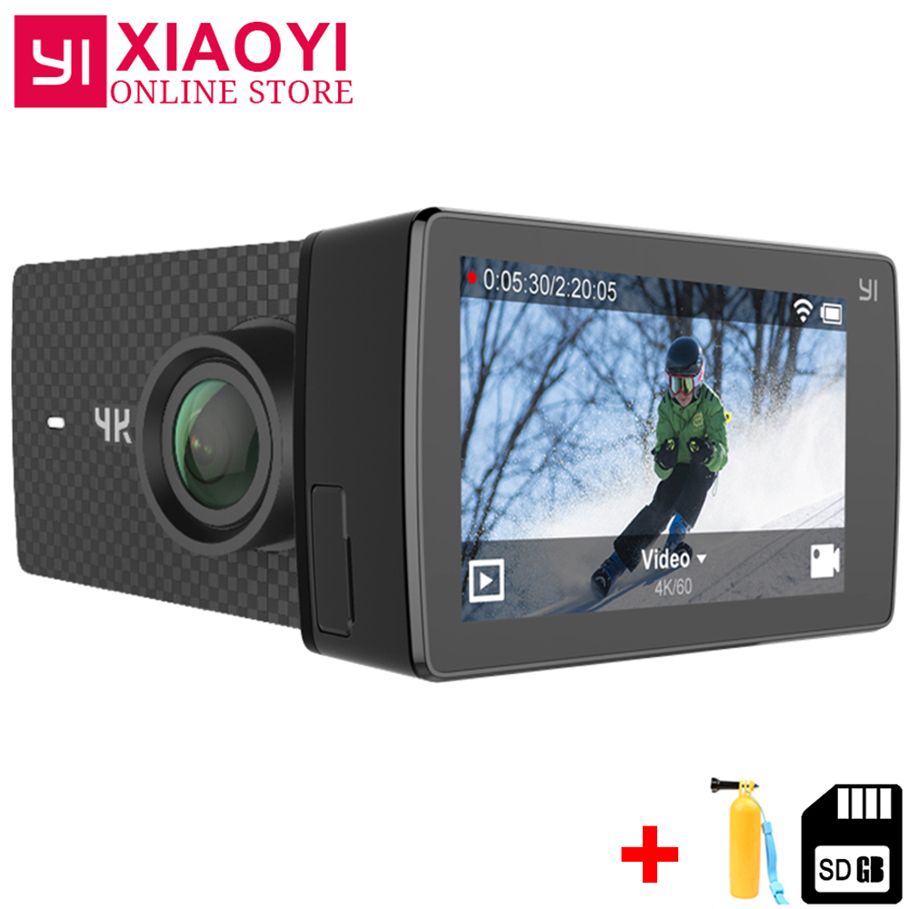 Xiaomi YI 4 k + (Plus) action Cam Sport Caméra Xiaoyi 4 k + Camera Action Amba H2 4 k/60fps 12MP CMOS 2.2 PMA 155 Degrés RAM WIFI
