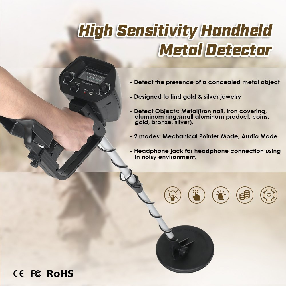 Digital Underground Metal Detector MD-4030 Portable Lightweight Adjustable Sensitivity Gold Detectors Treasure