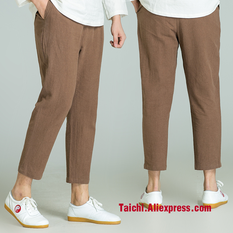Handmade Linen Pants Trousers Kung Fu Martial Art Pants Chinese Stlye