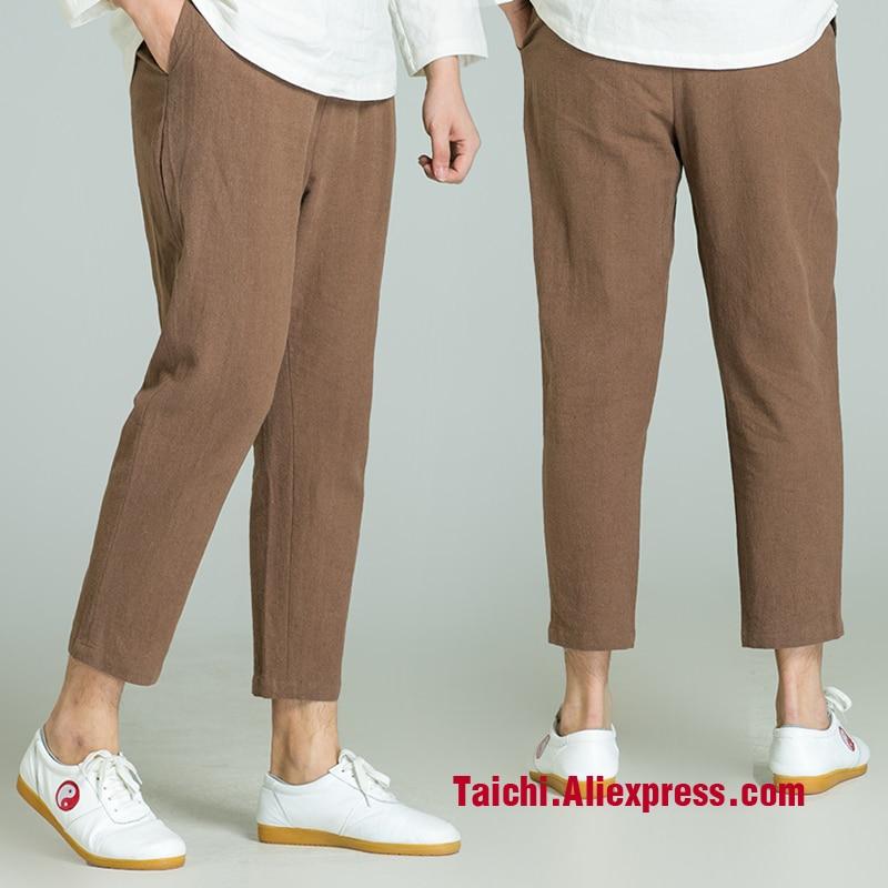 Handmade Linen Pants trousers Kung Fu martial Art Pants Chinese Stlye