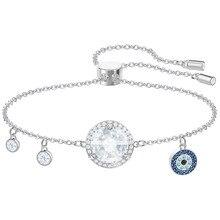 High quality SWA Devil zircon eye, big , lady jewelry Amulet bracelet, classic graduation, fashion jewelry, blue eyes, цена и фото