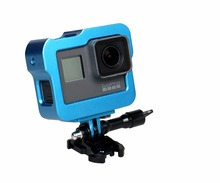 Gopro5 Accessories Aluminum Alloy Frame Case Protective Housing with Mount Base Long Screw and lens cover For Gopro 5