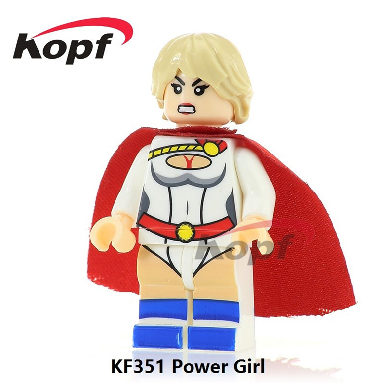 50Pcs KF351 Super Heroes Gi Joe Series Power Girl Snow Job Snake Eyes Firefly Bricks Bui ...
