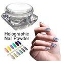 1 g/caixa Holo 3D A Laser Em Pó Brilho Rainbow Espelho Cromo Unhas Poeira Perfeito Efeito Holográfico Glitter Pó Nails Art