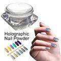 1g/Box 3D Laser Holo Powder Shinning Rainbow Mirror Chrome Nails Dust Perfect Holographic Effect Glitter Powder Nails Art