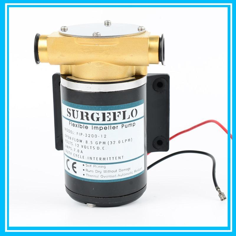 12V/24V Optional DC Mico Portable Water Pump 30L/min Engine Cooling Pump Max Head 3m Deck Wash Bilge Pump For Salt Water