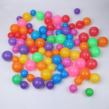 100pcs/lot Eco-Friendly Colorful Soft Plastic Water Pool Ocean Wave Ball Baby thicker Toys stress air ball outdoor fun sports