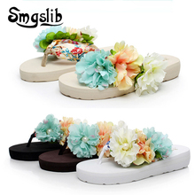 Girls Beach Slippers Children Floral Slippers Women Home Shoes Kids Fashion Casual Flip-flops Sandals 2019 Summer Comfortable цены онлайн