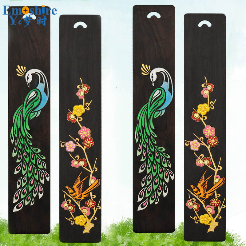 Engraving Bookmark Chinese Style Hand-painted Bookmark Antique Custom Lettering Creative Birthday Gift Wedding Gift M123