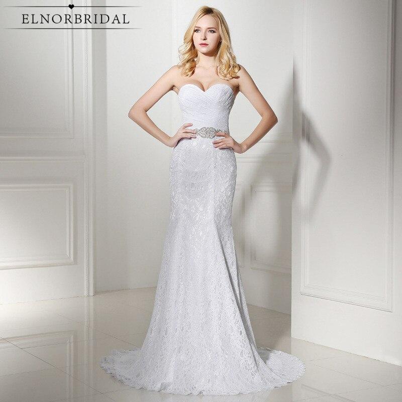 Sweetheart Mermaid Wedding Gown: 2019 Cheap Lace Wedding Dresses Robe De Mariee Sweetheart