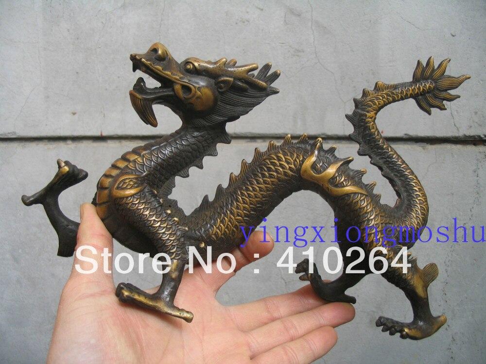 30 cm Je suis réaliste à fly dragon bronze statue discount 30%