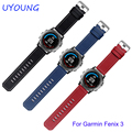 Quality leather watchband 26mm for Garmin Fenix 3 replacement leather strap Palm lines bracelet with buckle