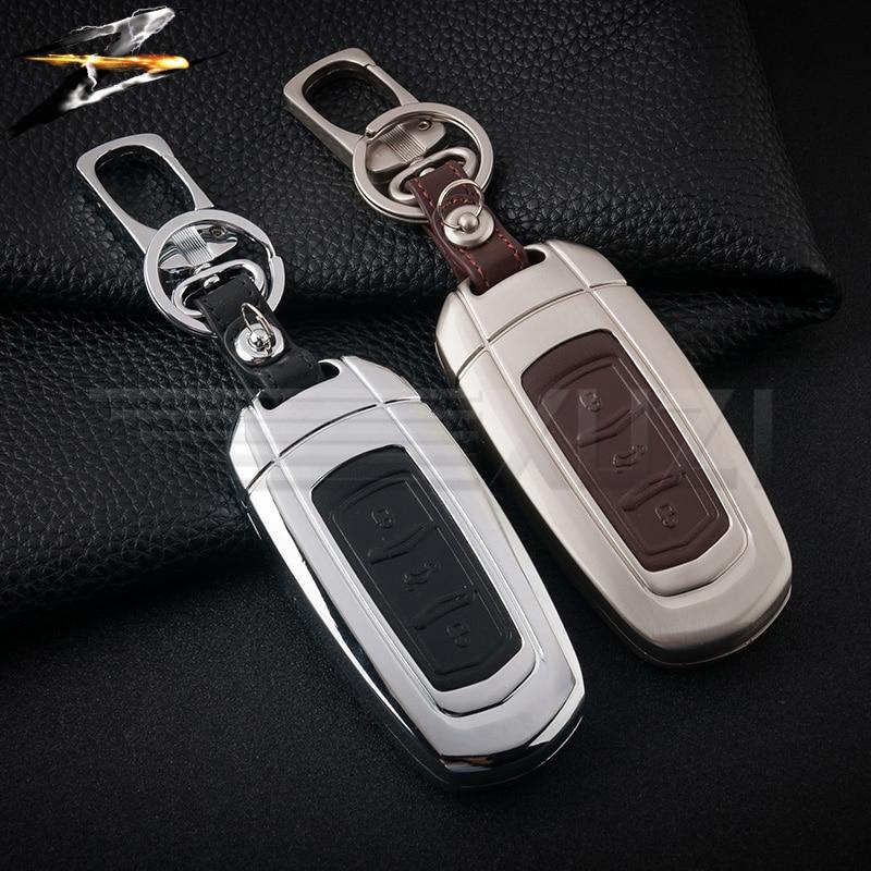 Zinc alloy leather Car remote key case for Geely Atlas Boyue NL3 EX7 Emgrand X7 EmgrarandX7 SUV GT GC9 borui комплект накладок на дверные ручки хром для geely emgrand gt 2017