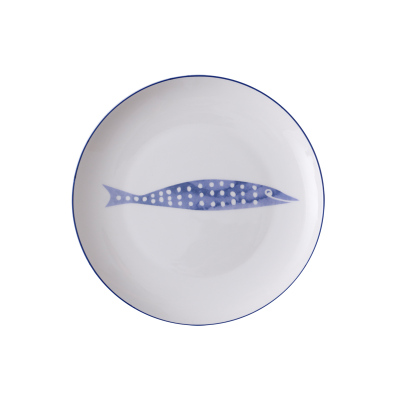 8-дюймовая керамические тарелки, фарфоровая тарелка, костяные блюда из Китая, милые рыбные тарелки, посуда фарфоровые,сине-белые фарфоровая посуда, стейк Ужин Блюдо, фарфор Столовая посуда салат торт блюдо - Цвет: Pattern B