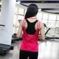 Модный бренд новый летний женщин майка фитнес случайные свободные топ спинки жилет случайные Отверстия дышащий футболка женщин спортивной одежды