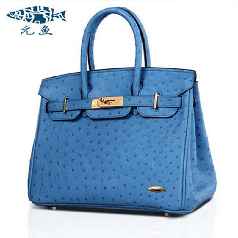 yuanyu new real ostrich skin women handbag leather bag lady handbag aristocratic ostrich leather ladies bag yuanyu real snake skin women bag new decorative pattern women chain bag fashion inclined single shoulder women bag