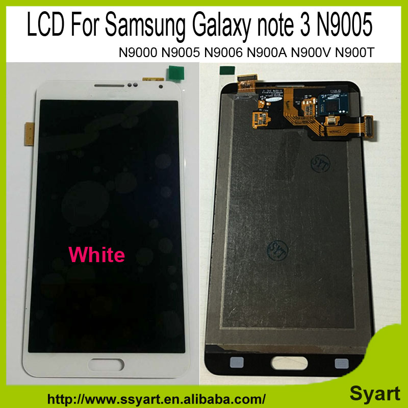 1pcs White in stock LCD Screen LCD Display Touch  Digitizer Glass Panel  Replacement For Samsung Galaxy note 3 N9000 N9005 N9006