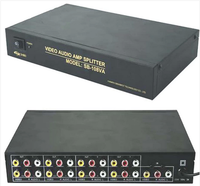 Freeshipping 8 way 1 Entrada De vídeo 8 Saída de áudio amp spliter RCA Conector AV Splitter 220 v 50 hz