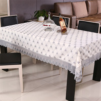 New Style Hot Sale Hight Grade Lace Embroidered Table Cloth Home Party Coffee Table Cloth Hotel