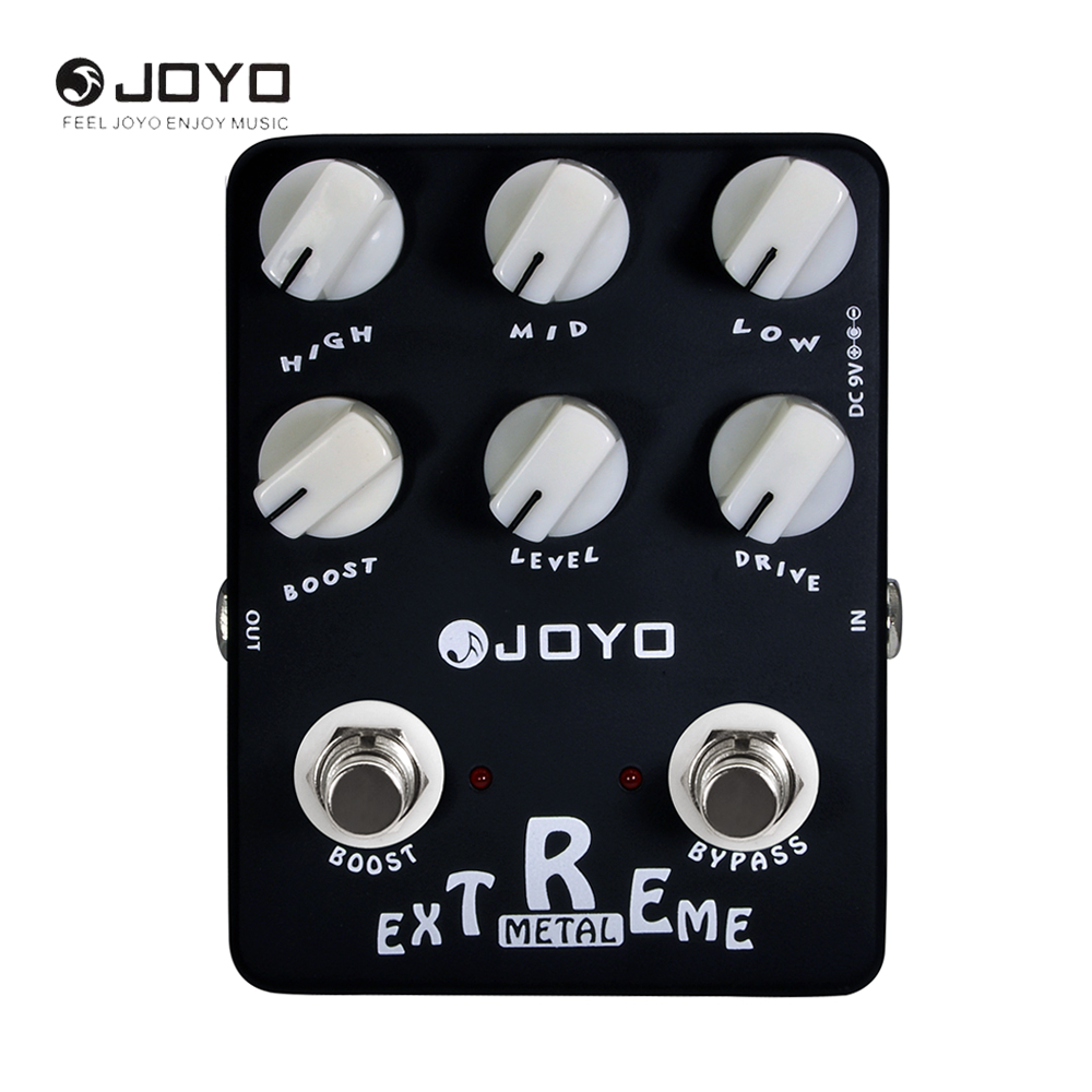 JOYO JF-17 Extreme Metal Electric Guitar Effect Pedal 3-Bands Powerful EQ 6 Knobs joyo jf 34 high gain distortion us dream guitar effects with 3 knobs