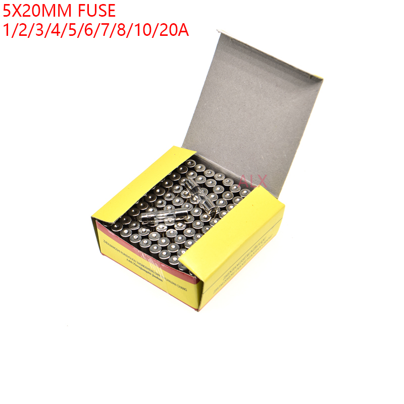 100pcs Quick Fast Blow Glass Tube Fuse Fuses 5*20mm 6*30mm 0.1A 30A 250V