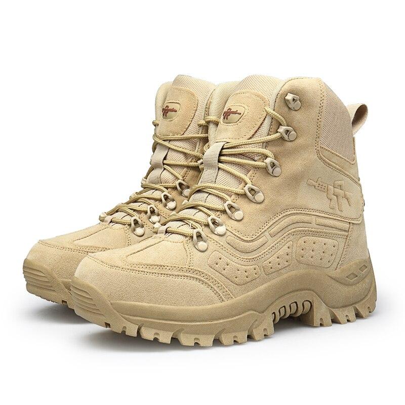 Printemps Taille De Automne Plate Désert Cuir Cheville forme Casual Chaussures Chelsea Grande Hommes Militaire En Combat Armée Bottes Véritable Confortable ERqxTUn