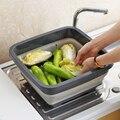 Vanzlife кухонная пластиковая корзина для мытья  Бытовая Складная Раковина для стирки раковина для умывальника  складная телескопическая корз...