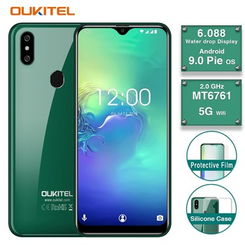 2019 new original OUKITEL 6.1 19:9 Water Drop 2GB 16GB Android 9.0 MT6761 Quad Core smartphone Face ID 5G WIFI 4G mobile phone telephony