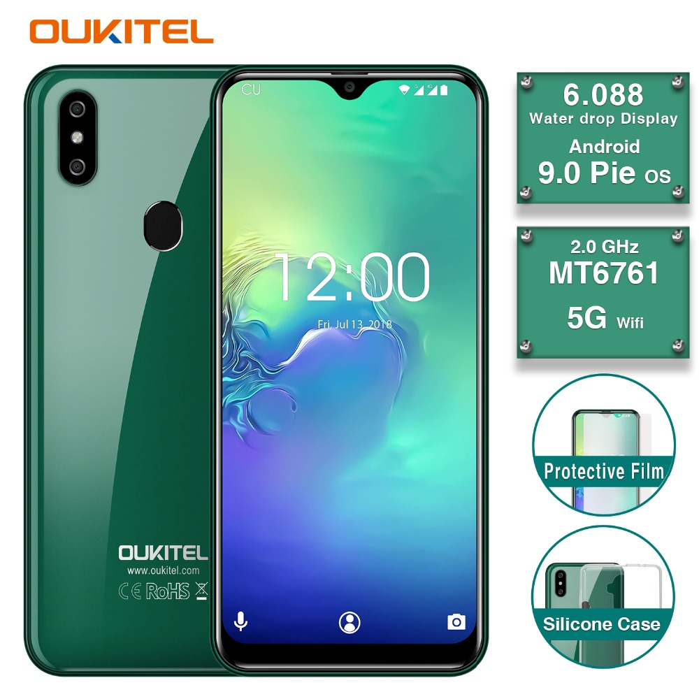 """original OUKITEL C15 PRO 6.1""""FHD 19:9 Water Drop screen 2GB 16GB Android 9.0 MT6761 Quad Core smartphone 4G mobile phone PK Y8"""