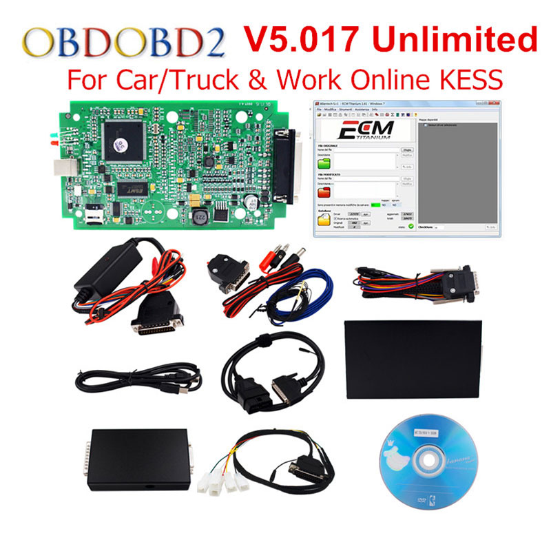 цены KESS V2 V2.33 OBD2 Manager Tuning Kit Master Version KESS V2 V4.036 / V5.017 No Tokens Limited ECU Chip Tuning Tool ECM_Titanium