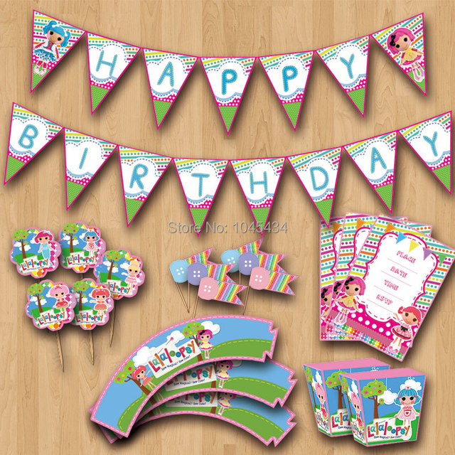 Aliexpress Buy Lalaloopsy Party Decotation Party Supplies – Lalaloopsy Birthday Invitation