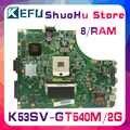 Kefu k53sc hm65 para asus k53s a53s a53sj x53s p53sj k53sv k53sm gt540/2 gb placa-mãe do portátil testado 100% trabalho original mainboard
