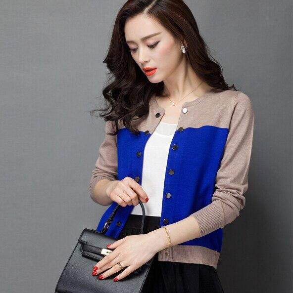 38177e5452 2015 Hot Sale Brand knit Cardigans Sweaters Women Autumn Winter Wool Hit  Color Long Sleeve office Work Ladies Cardigan Sweater-in Cardigans from  Women s ...