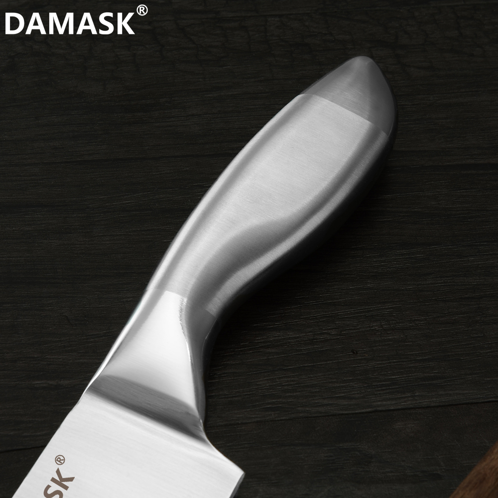 Damask Kitchen Knives Set Japanese Chef Stainless Steel Kitchen Knife With Knife Stand Ergonomic Grip Design Handle Meat Cleaver in Knife Sets from Home Garden