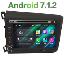"2GB RAM 8"" Android 7.1 Quad Core 4G WiFi DAB+ Multimedia Car DVD Player Radio Stereo GPS Screen Navi For Honda CIVIC 2012 2013"