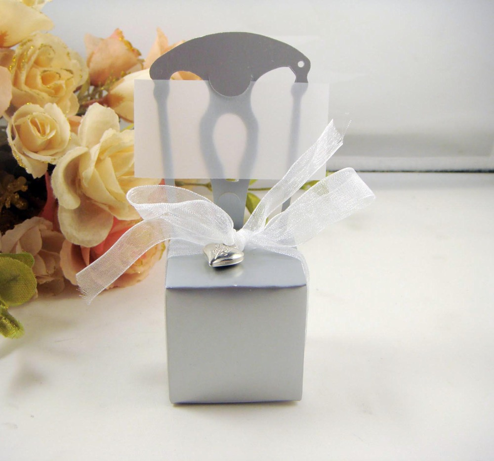 Free Shipping 20 X White/Gold/Silver Cute Chair Place Card Holder ...