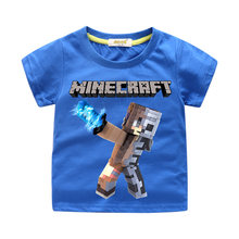 6c43e53b1 Hot Sale Children Tee Tops Costume Boy 3D Minecraft Printing T-shirt  Clothing Girls 9 Colors T Shirt For Kids Summer Clothes ZN4