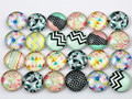 Hot Sale 50pcs 12mm  Mixed Handmade Photo Glass Cabochons  (D5-08)