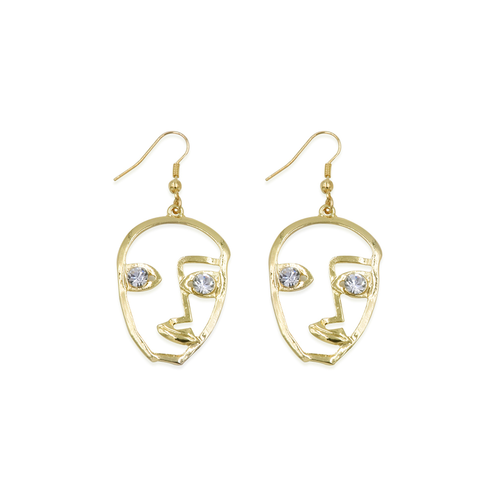 Creative Earrings: Artsy Museum Artworks Organically Shaped Metal Alloy With