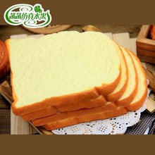 High artificial toast quality bread cake PU material fake