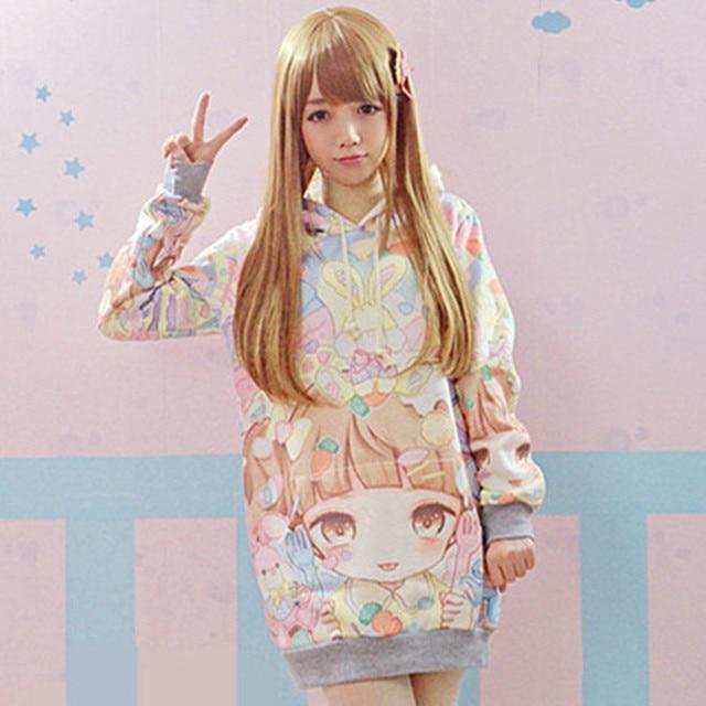 2016 New Autumn Lolita Hoodies Women Cute Hot Japan